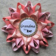 Grandma to Be Pin Personalized Baby Shower Corsage New Grandma...