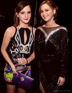 Jennifer Lawrence and Emma Watson. Eeeeeeeee!!!!!