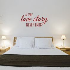 Decorate any bedroom with this adorable love quote! ❤ Select the size and color that best fits your needs. **Keep in mind sizes are close approximations.** Bring your walls to life with our removable