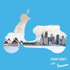 Bondi beach, the Opera House, the Darling Harbour: Sydney is the place to be (and visit!).  What about on a Vespa? #vespa #sydney