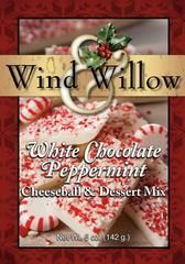 Wind and Willow White Chocolate Peppermint Cheeseball & Dessert Mix is the Must-have Mix for the Holidays!  Keep on hand for a festive holiday Cheeseball or favorite desserts like beautiful Trifles and yummy Peppermint Brownies and Dessert Pizza.