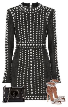 """""""Untitled #2136"""" by iammelissa ❤ liked on Polyvore featuring Balmain, Alaïa and Yves Saint Laurent"""