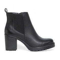 boots talon cranté noir