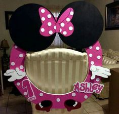 Más Minnie Mouse Theme Party, Mickey Mouse Bday, Minnie Mouse Baby Shower, Mickey Mouse Clubhouse Birthday, Minnie Birthday, Mickey Party, Mini Mouse 1st Birthday, 2nd Birthday Parties, Girl Birthday Decorations