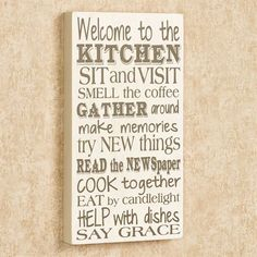 The Kitchen Rules Sign Wall Plaque