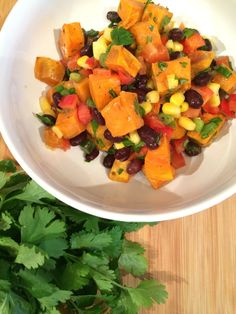 Roasted Sweet Potato Salad. A salad without lettuce.