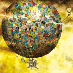 SCHMIDT Čtvercové puzzle Fantastický let balónem 1000 dílků