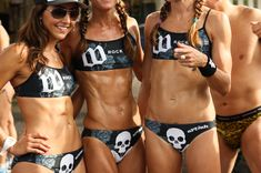 Triathlon ladies...they'll kick ur...butt. Because we have the hottest bodies and the most endurance.....