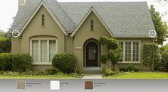 "Behr Product Colors:  N340-5 ""Grassy Savannah"" 75 ""Polar Bear""  PPU4-20 ""Ancient Root"""
