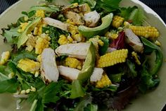 Summer Salad with Chicken, Avocado, and Corn