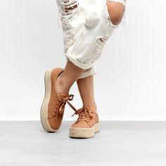 Tênis Beira Rio Caixa Alta Corda Feminino - Rosa Crocs, Flatform, Look, Espadrilles, Shoe Bag, Bags, Fashion, Bass Shoes, Beauty Routines