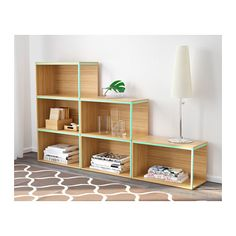 IKEA PS 2014 Storage combination with top - bamboo/light green - IKEA Would rather have it be a nine block set for symmetry