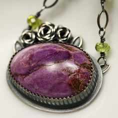 Sterling and Stichtite Necklace I WANT this!! Beautiful!