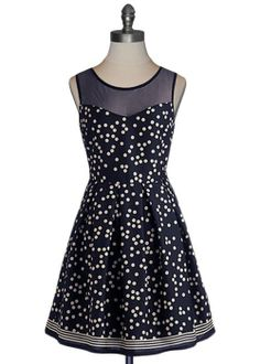 Polka Dot Party Dress, I like the sheer part and the dots of course!