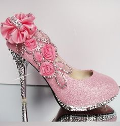 Beautiful pink decorated heels