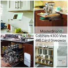 MasterBrand Cabinets $300 Visa Gift Card Giveaway #cupboardconfessions :: OrganizingMadeFun.com