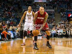 Mar 29, 2014; Milwaukee, WI, USA; Miami Heat forward Chris Andersen (11) during the game against the Milwaukee Bucks at BMO Harris Bradley Center. Miami won 88-67. Mandatory Credit: Jeff Hanisch-USA TODAY Sports