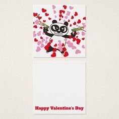 AngryFacePanda Happy Valentine& Day Square Business Card - valentines day gifts love couple diy personalize for her for him girlfriend boyfriend Love Girlfriend, Boyfriend, Gifts Love, Saint Valentine, Couple Gifts, Diy, Love Heart, Happy Valentines Day, Note Cards