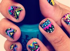 Nail Art Designs are one of the most famous type of artwork among the ladies. Nail art designs are the decoration of nails with beautiful, unique drawings. Love Nails, How To Do Nails, Pretty Nails, Fun Nails, Crazy Nails, Style Nails, Sexy Nails, Dream Nails, Nail Art Designs