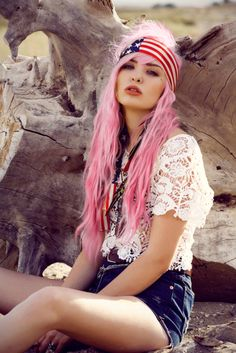 I was born in america // Travel by #Anticocotte - #pinkhair #usa
