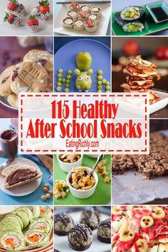 Healthy after school snacks are a great way to avoid the wrath and destruction of a hungry kiddo. Here's 115 healthy snacks your kid will…