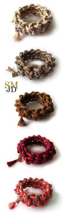 TEXTIELLAB, Limited Edition - rope bracelets hand made of cotton/polyester - SMJD (Sarah Mesritz Jewellery Design)