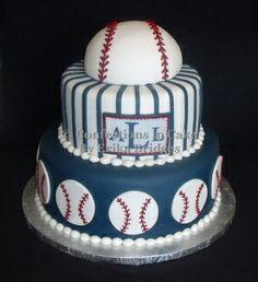 base ball cake idea | Baseball cake. Love the idea for my boys