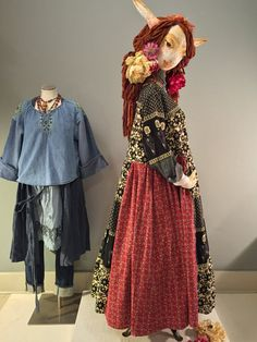 L/XL Red Black Folk Dress-Print Mix Recycled Dress by raggandbone