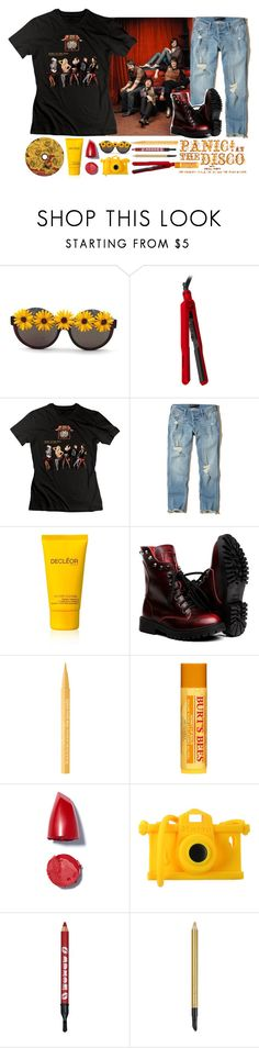 """""""~you better put that pen to paper~"""" by bachelors-new-clothes ❤ liked on Polyvore featuring Gasoline Glamour, Lorion, Hollister Co., Decléor, Too Faced Cosmetics, Burt's Bees, Moschino and Estée Lauder"""