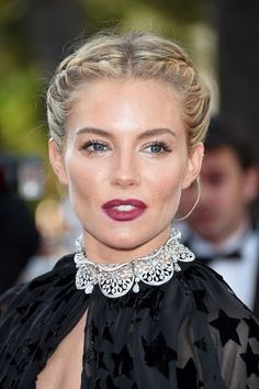 Sienna Miller at #Cannes2015 #braid