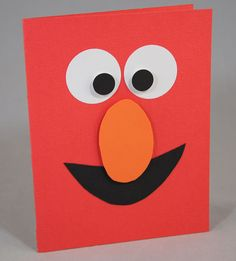 Elmo muppets cartoon CM circle and Corner Punches and ccs oval patterns Boy Cards, Kids Cards, Cute Cards, Kids Birthday Cards, Card Birthday, Elmo Birthday, Birthday Ideas, Tarjetas Diy, Punch Art Cards