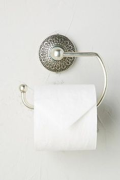 Anthropologie Brass Medallion Towel Ring