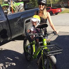 Instagram picutre by @ciarajayne: Daddy bought us a green ebike to match his dirtbike!! #luckygirl #surface604 #electricbike #ebike #bikebaby we're going to have a great #summer - Shop E-Bikes at ElectricBikeCity.com (Use coupon PINTEREST for 10% off!)