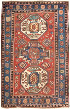 Antique Kazak Rug Antkaza019