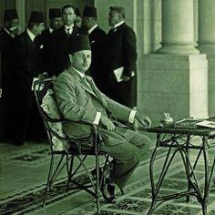 HM King Farouk I of Egypt on The Balcony of Montaza Palace, Alexnadria, Egypt.