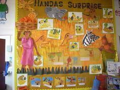 Handa's Surprise Year 1 Classroom, Primary Classroom, Classroom Ideas, Classroom Organisation, Classroom Displays, Handas Surprise, Surprise Ideas, Talk 4 Writing, Preschool Social Studies