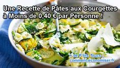 Voici une recette de pâtes à base de courgettes, prête en 10 min. C'est idéal pour un repas sur le pouce ! Découvrez l'astuce ici : http://www.comment-economiser.fr/recette-de-pates-aux-courgettes.html?utm_content=bufferec3e0&utm_medium=social&utm_source=pinterest.com&utm_campaign=buffer