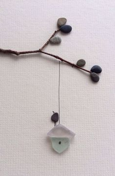 glass pebble art | Sharon Nowlan original art with pebbles and sea glass by PebbleArt, $ ...