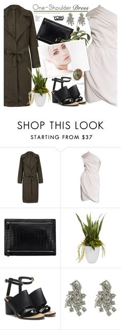 """Party Style: One-Shoulder Dress yoins 3.3"" by cly88 ❤ liked on Polyvore featuring Valentino, Nearly Natural, Oscar de la Renta and Anne Sisteron"