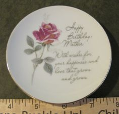 Happy Birthday Mother Small Plate By American Greetings Corp in 1976 by GlitteryGranny on Etsy