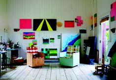 Mary Heilmann's Studio  @Ante and the milky way