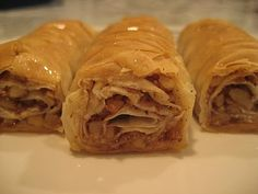 Boorma is Armenian paklava that is rolled instead of layered.