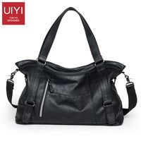 d6c60d95cd UIYI Men s handbag Black shoulder bag portable men laptop bag Leisure  package PU Messenger Crossbody Bags