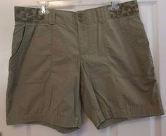 Nike Shorts All Conditions Gear Army Green Flat Solid Cotton Spandex Zip Size 12 #Nike #CasualShorts
