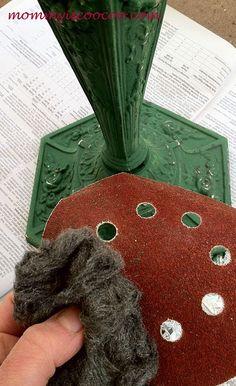 Before & After Antique Chalk Paint Lamp