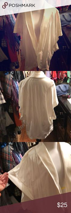 White terry wrap by Lucky Brand 🍀 Never used because it is too big on me.  It runs really big.  It's super cute and feels like sweat shirt material. Lucky Brand Sweaters Shrugs & Ponchos