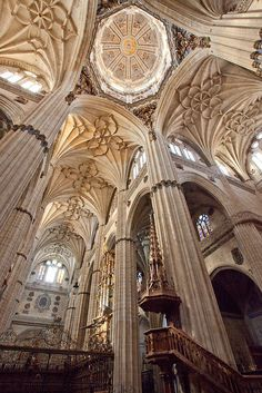 Cathefral. Salamanca, Spain.  Another amazing photo by: Ricardo Bevilaqua. Buttercream ceiling beautiful.