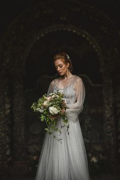 Wild + Natural Midsummer Nights Dream Inspired Bridal Elegance, with a Jenny Packham Celestial Cape Wedding Cape, Bridal Cape, Wedding Blog, Wedding Ideas, Jenny Packham Wedding Dresses, Jenny Packham Bridal, Colored Wedding Dress, Blue Wedding Dresses, Amazing Weddings