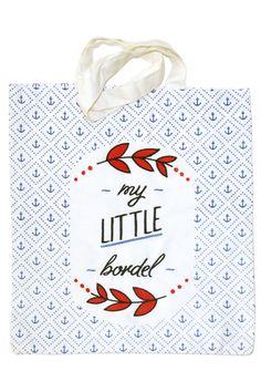 BORDEL SAC by CHARLIE'S DREAMS Organic cotton totebag 25€ www.charliesdreams.com
