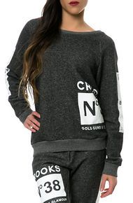 Crooks and Castles The Smoke Crew Sweatshirt in Speckle Black